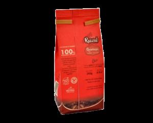 Parte de atras del paquete de Cafe raizal de 250gr molido