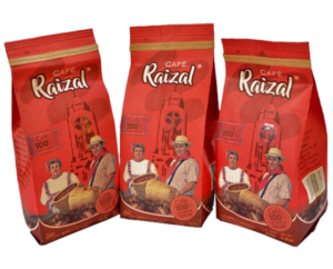 imagen de tres paquetes de cafe molido
