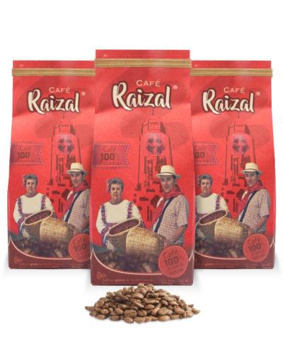 Café Raizal 3 x 340 gramos en grano